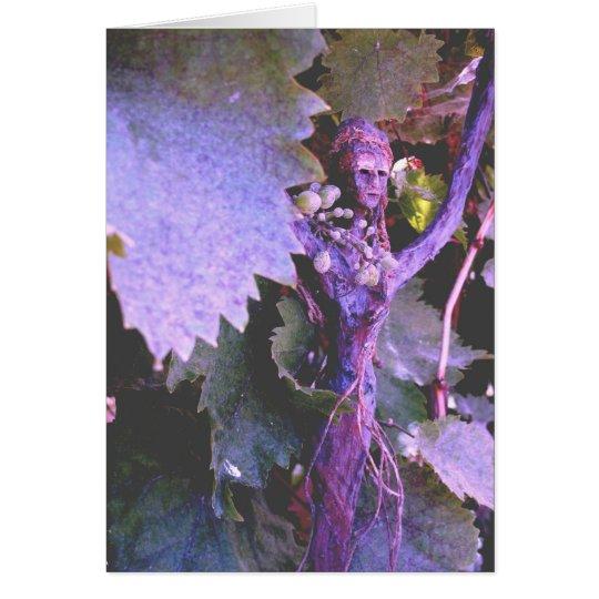 (Madam Grape Lady Fall) Greeting Card