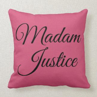 Madam Justice Throw Pillows