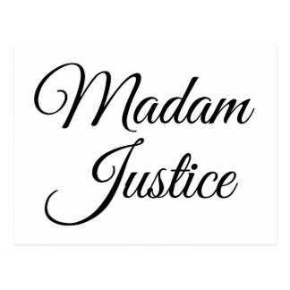Madam Justice Postcard