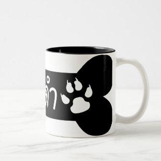 MADAM ☆ Maa Dam is BLACK DOG in Thai Language ☆ Two-Tone Coffee Mug