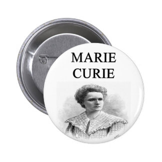 madam marie curie pinback buttons