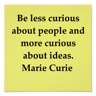 madam marie curie quote poster
