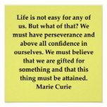 madam marie curie quote posters
