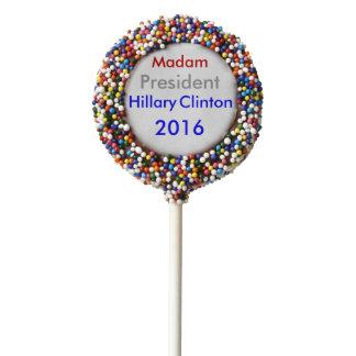Madam President Hillary Clinton 2016 Chocolate Covered Oreo Pop