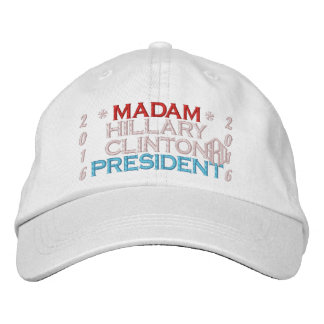 Madam President Hillary Clinton 2016 Embroidered Baseball Hat