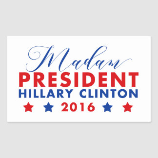 Madam President Hillary Clinton Rectangular Sticker