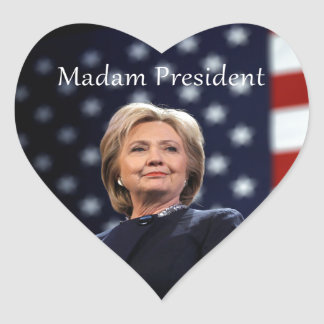 Madam President Style 1 Heart Sticker