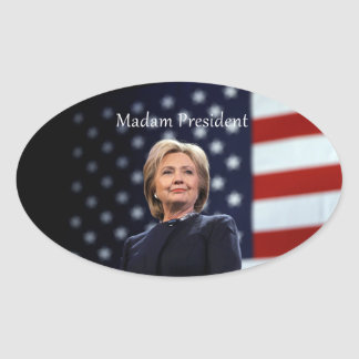 Madam President Style 1 Oval Sticker