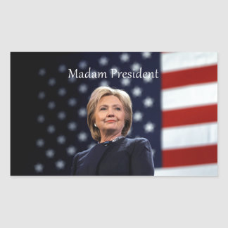 Madam President Style 1 Rectangular Sticker