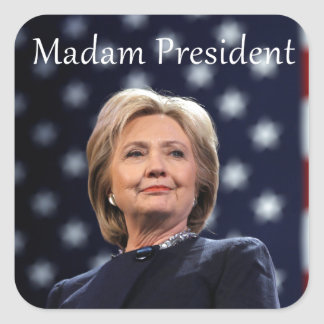 Madam President Style 1 Square Sticker