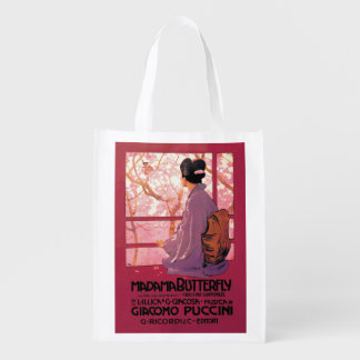 Madama Butterfly Opera Grocery Bag