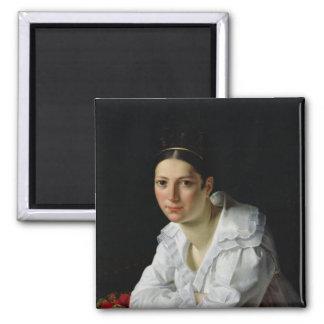 Madama Claude Marie Dubufe  1818 2 Inch Square Magnet