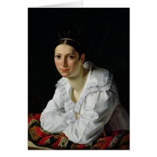 Madama Claude Marie Dubufe  1818 Card