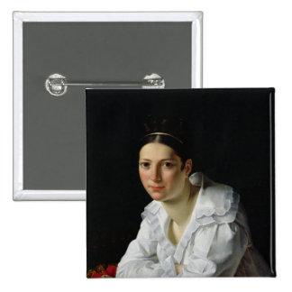 Madama Claude Marie Dubufe 1818 Pin Cuadrado