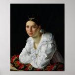 Madama Claude Marie Dubufe 1818 Póster