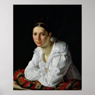 Madama Claude Marie Dubufe  1818 Poster