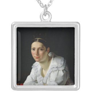 Madama Claude Marie Dubufe  1818 Square Pendant Necklace