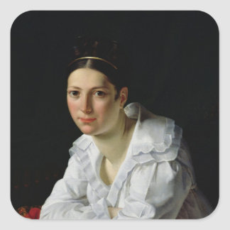 Madama Claude Marie Dubufe  1818 Square Sticker