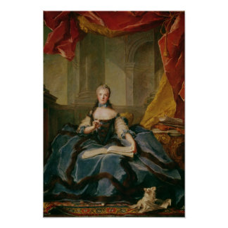 Madame Adelaide de France  in Court Dress, 1758 Posters
