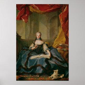 Madame Adelaide de France  in Court Dress, 1758 Poster