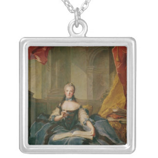 Madame Adelaide de France  in Court Dress, 1758 Silver Plated Necklace
