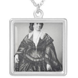 Madame Anna Bishop Square Pendant Necklace