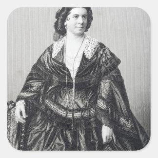 Madame Anna Bishop Square Sticker