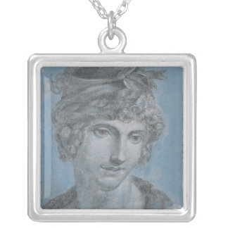 Madame Aubry  Olympia of Gouges, 1784 Silver Plated Necklace