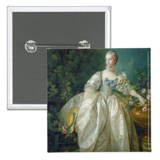Madame Bergeret, c. 1766 (oil on canvas) Pinback Button