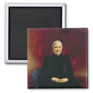 Madame Bonnat, the artist's mother, 1893 2 Inch Square Magnet