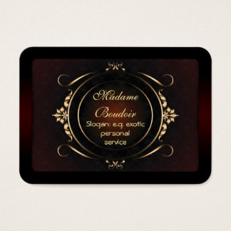 Madame Boudoir - Exotic Personal Design Service Business Card