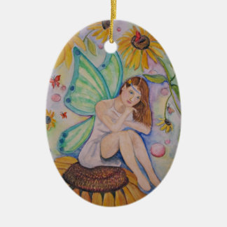 madame butterfly ceramic ornament