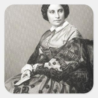 Madame Caroline Marie Felix Miolan-Carvalho Square Sticker