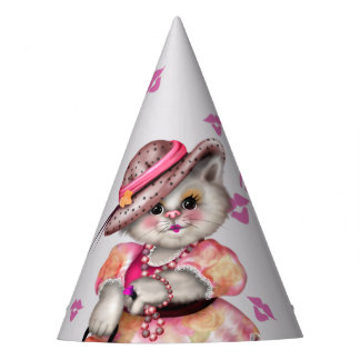 MADAME CAT LOVE CARTOON Party Hat 2
