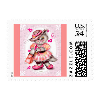 """MADAME CAT Small 1.8"""" x 1.3"""" Postage"""