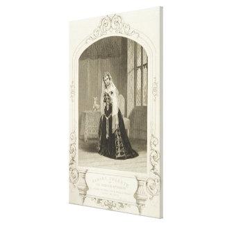 Madame Celeste as the Princess Katherine, Act V Sc Canvas Print