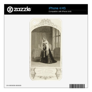 Madame Celeste as the Princess Katherine, Act V Sc Decals For The iPhone 4S