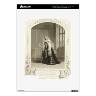 Madame Celeste as the Princess Katherine, Act V Sc Decal For iPad 3