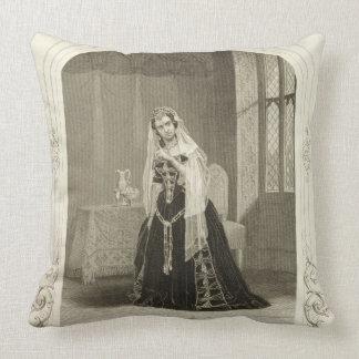 Madame Celeste as the Princess Katherine, Act V Sc Throw Pillow