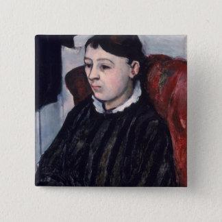 Madame Cezanne, c.1883-85 (oil on canvas) Button