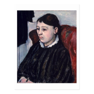 Madame Cezanne, c.1883-85 (oil on canvas) Postcard