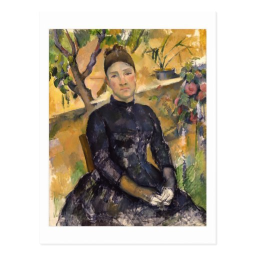Madame Cézanne in the Conservatory postcard