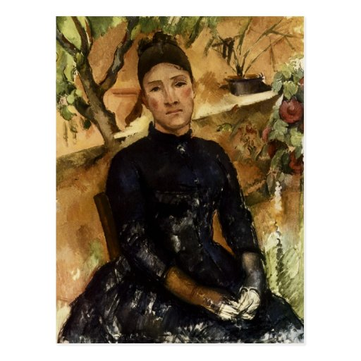 Madame Cezanne in the Conservatory Post Cards