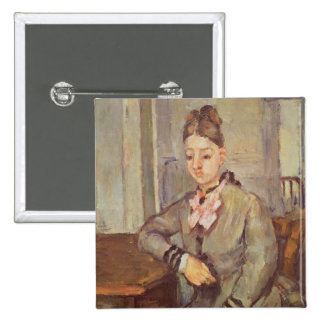 Madame Cezanne Leaning on a Table, 1873-77 Button