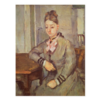Madame Cezanne Leaning on a Table, 1873-77 Postcard