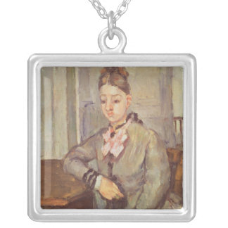 Madame Cezanne Leaning on a Table, 1873-77 Silver Plated Necklace