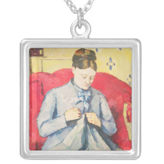 Madame Cezanne sewing Silver Plated Necklace