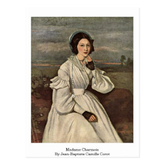 Madame Charmois By Jean-Baptiste Camille Corot Postcard