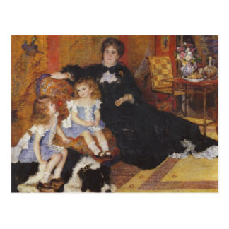 Madame Charpentier and her children by Renoir Postcard