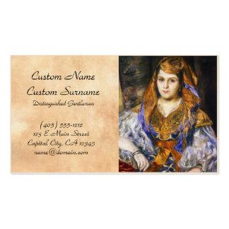 Madame Clemetine Valensi Stora  Pierre Auguste Business Card